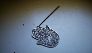HAND OF COMPASSION INCENSE BURNER | HAMSA HAND METAL BURNER