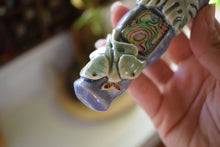 Load image into Gallery viewer, LUNA MOTH CERAMIC PIPE | HAND THROWN | CRYSTAL PIPE