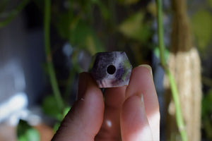 MINI AMETHYST CRYSTAL PIPE | POCKET PIPE | SMOKE MEDICINE VESSEL | CRYSTAL SMOKING PIPE