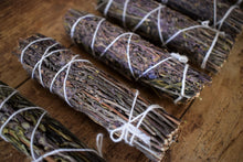 Load image into Gallery viewer, FLOWERING ROSEMARY SMOKE WAND | PROTECTION + CLEANSING | PSYCHIC AWARENESS | HEALING