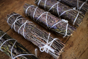 FLOWERING ROSEMARY SMOKE WAND | PROTECTION + CLEANSING | PSYCHIC AWARENESS | HEALING