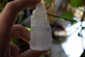 MINI SELENITE CRYSTAL TOWER | SELENITE TOWER | CRYSTAL CLEANSING | SELENITE CHARGING
