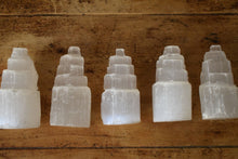 Load image into Gallery viewer, MINI SELENITE CRYSTAL TOWER | SELENITE TOWER | CRYSTAL CLEANSING | SELENITE CHARGING