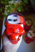Load image into Gallery viewer, RED SKULL RITUAL CANDLE | VANILLA PUMPKIN PIE