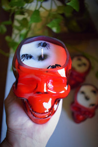 RED SKULL RITUAL CANDLE | VANILLA PUMPKIN PIE