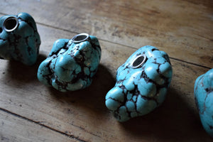 RAW TURQUOISE CRYSTAL PIPE | SMOKE MEDICINE VESSEL | TURQUOISE STONE PIPE