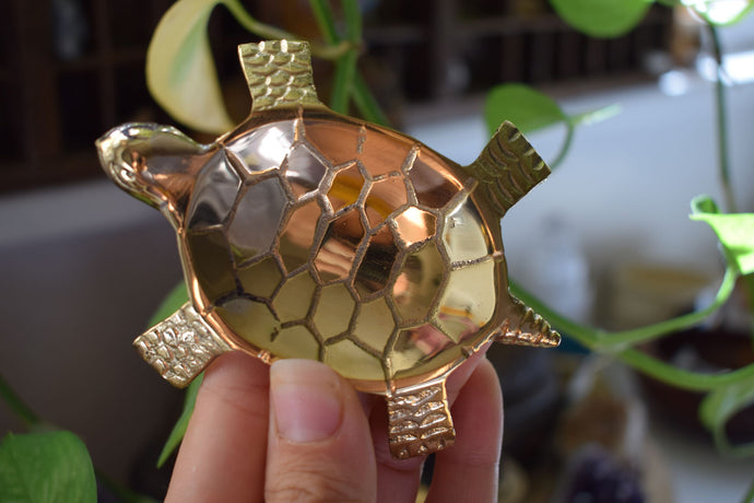 BRASS TURTLE SHAPED BURNER | INCENSE BURNER | RESIN BURNER