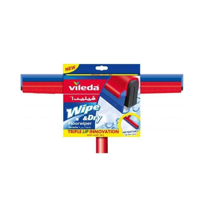 فيلدا ماسحة للارضيات 42 سم مع عصا Vileda floor wiper wipe dry handle