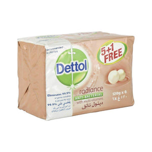 (5+1)  صابون ديتول تألق 120غم Dettol Soap Shine