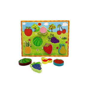 بزل خشب تعليمي مجسم فواكه Fruits anthropomorphic educational wooden jigsaw