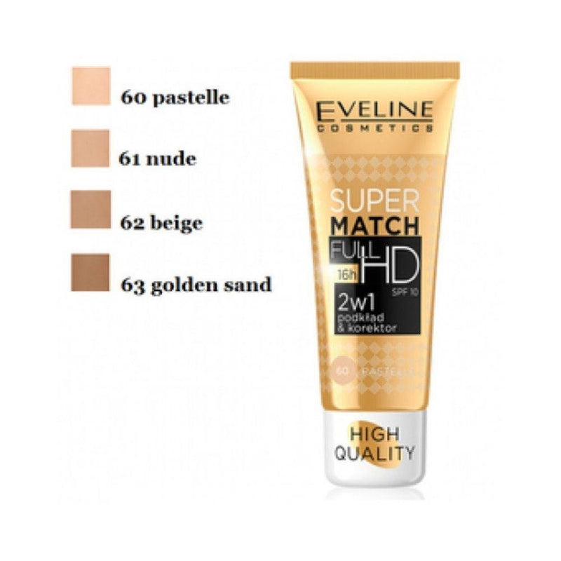 EVELINE SUPER MATCH HD SPF 10 ايفلين كريم اساس ماجك سوبر - Orisdi