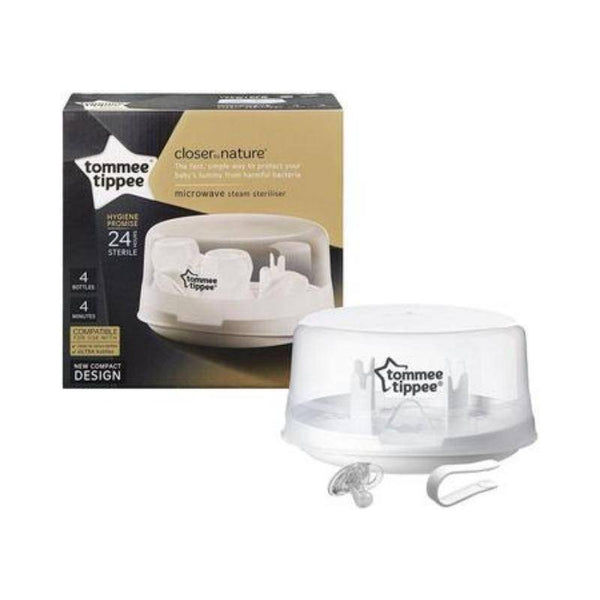 معقم مايكرويف مع عضاضة Tommee Tippee  Closer to Nature Microwave Steam Sterilizer