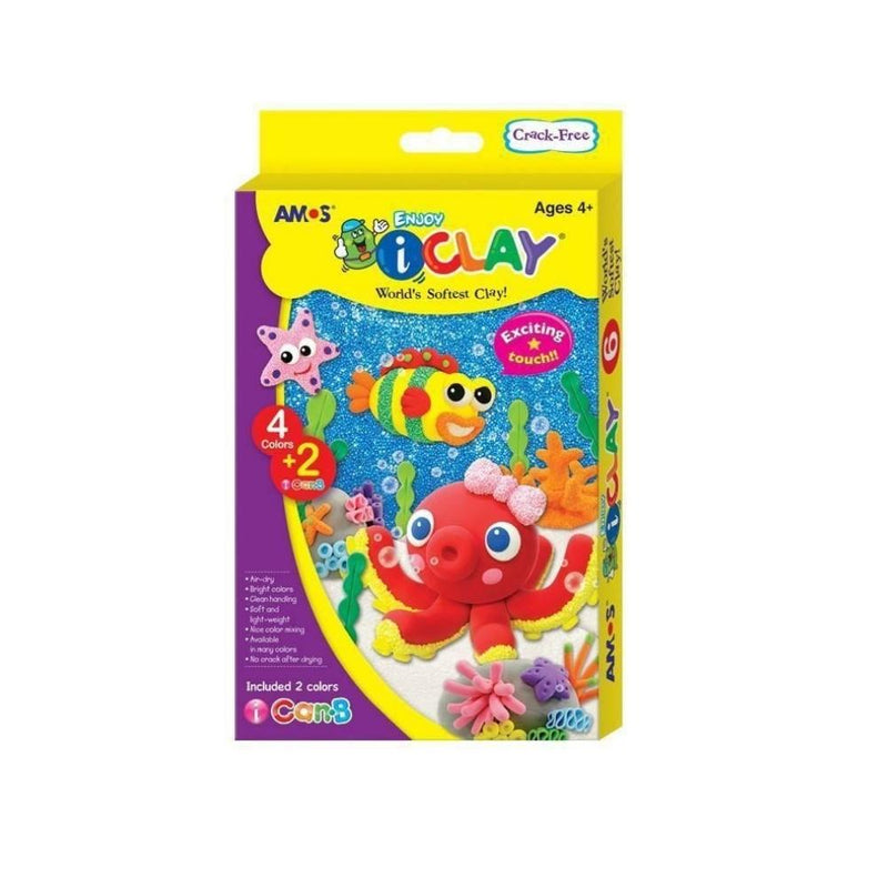 طين اصطناعي اسفنجي  6 قطع Artificial Clay Spongy 6 Piece