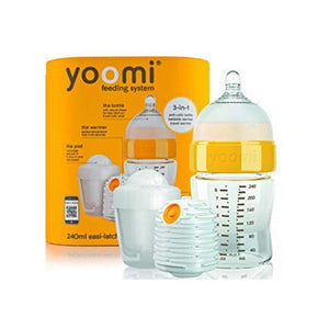 سيت رضاعة يومي Yoomi  bottle+ warmer + slow flow teat+Pod