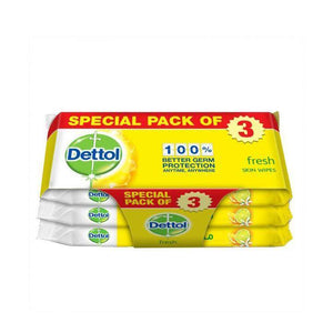 ديتول فريش مناديل مبللة للجلد Dettol Fresh Anti-bacterial Skin Wipes