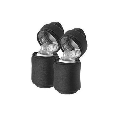 حافظة رضاعة 2 حبة تومي تيبي Tommee Tippee Closer Nature Insulated Bottles Carriers  Black  2 Pack