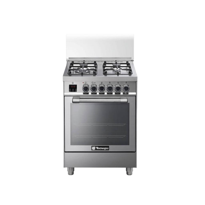 طباخ غازي 4 شعلات ستانلس ستيل تكنوكاز Tecnogas cooker gas 4 burners N1X66G4VC