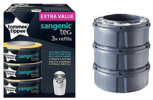 اكياس حفاض 3حبات تومي تيبي  Tommee Tippee Fits All Tubs Nappy Dispol Cassette 3 Pack sa