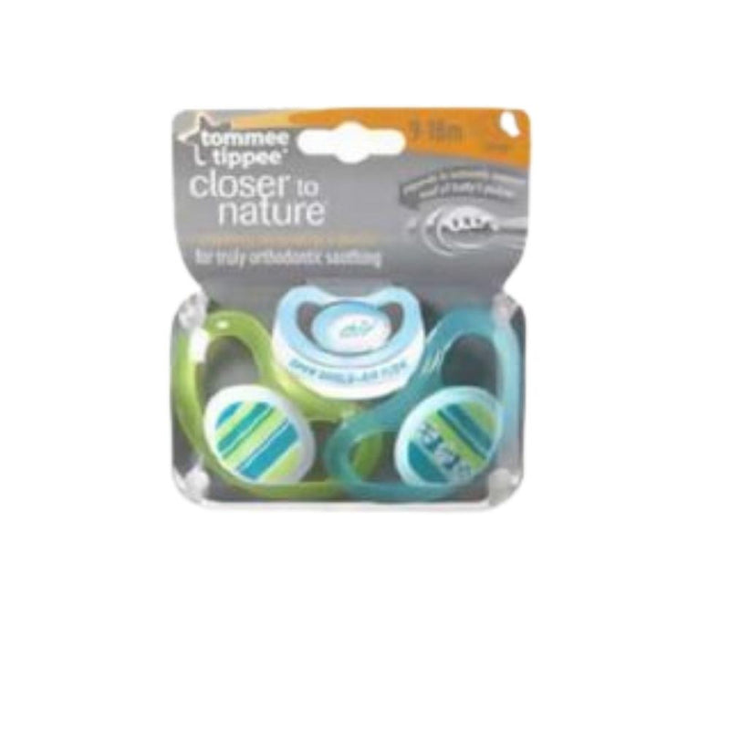 لهاية اطفال تومي تيبي Tommee Tippee Closer to Nature Air Soother Pack of 2 3-9 months - (Mix)