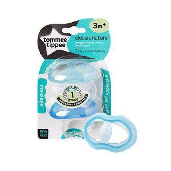 عضاضة مزدوج تومي تيبي  Tommee Tippee Closer to Nature Easy Reach Teethers Stage 1 3m+