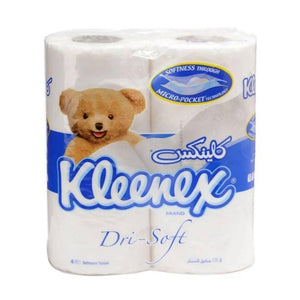 Kleenex Dry Soft Toilet Roll مناديل تواليت كلينكس 4 رول