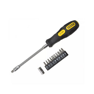 10 واي فليكس كرب ستانلي سيت مفك براغي STANLEY 10 Way Flexi Grip Screwdriver Set
