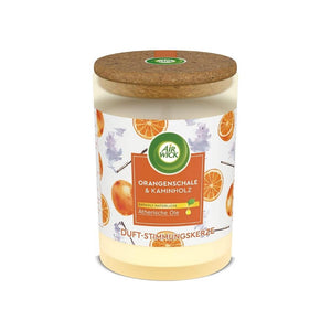 شمعة معطرة اورانج شيل اند فاير وود ايروك Air Wick Scented Candle Orange Shell and Firewood