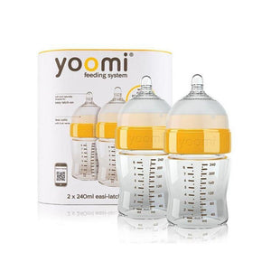 رضاعة مزدوج يومي Yoomi  feeding bottle + slow flow teat