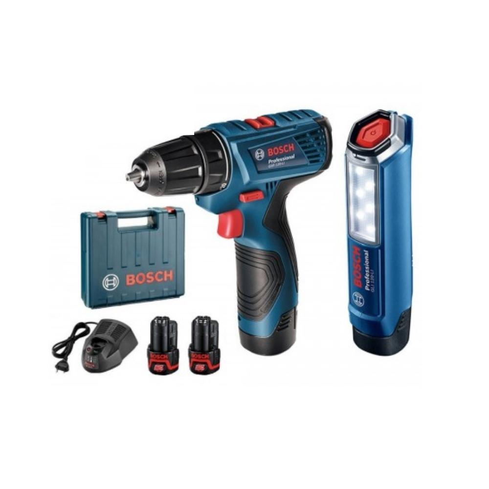 دريل شحن بروفشنال كوردليس مع لايت بوش BOSCH Professional Cordless Drill Driver With Torch