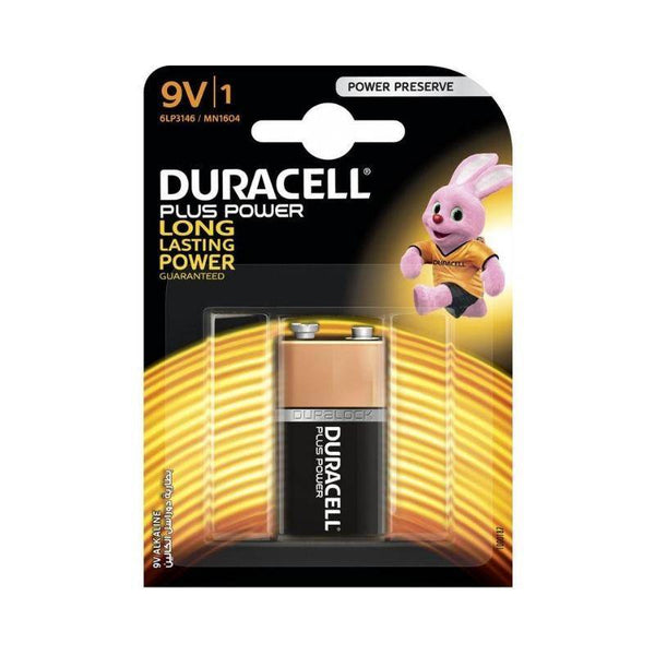 دوراسيل بطارية 9 فولت  Duracell Plus Power Type 9V Alkaline Batteries