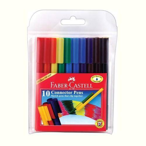 الوان ماجك كونكتور بينز 10 لون فابر كاستل FABER CASTEL Connector Pens Markers Wallet of 10