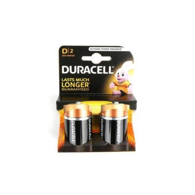 دوراسيل بطارية   GENUINE DURACELL ALKALINE BATTERIES D2
