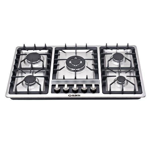 طباخ اليكتا مدمج 5  شعلة ستيل Elekta 5 Burner Built-in Stainless Steel Gas Hob