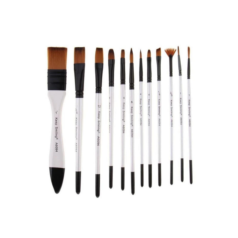 سيت فرشاة ارتست  كييب سمايلنج KEEP SMILING  artist value brush set 12 pcs