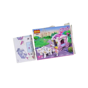 مكعبات بلاستيكية عربة باربي Plastic cubes in an educational cartoon box Barbie cart