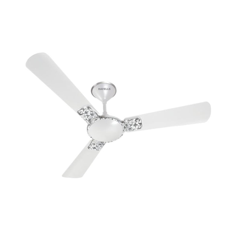 مروحة سقفية هافلز HAVELLS Pearl White Chrome ENTICER ART FAN