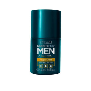 رول ضد العرق اوريفليم oriflame North for Men Recharge Deo Roll-On 48H