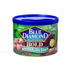 لوز بلو دايموند blue diamond bold almonds wasabi soy sauce