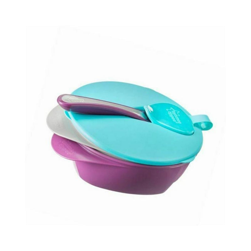 وعاء طعام للاطفال تومي تيبي Tommee Tippee  Explora Easy Scoop Feeding Bowls with Lid & Spoon*2