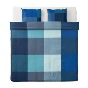 غطاء لحاف نفرين ووسادتين ايكيا IKEA Quilt with Blue Pillowcase - Orisdi