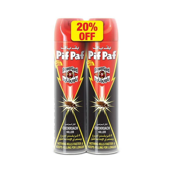 بف باف قاتل الصراصير  عبوتين Pif Paf Crawling Insect Killer Twin Pack