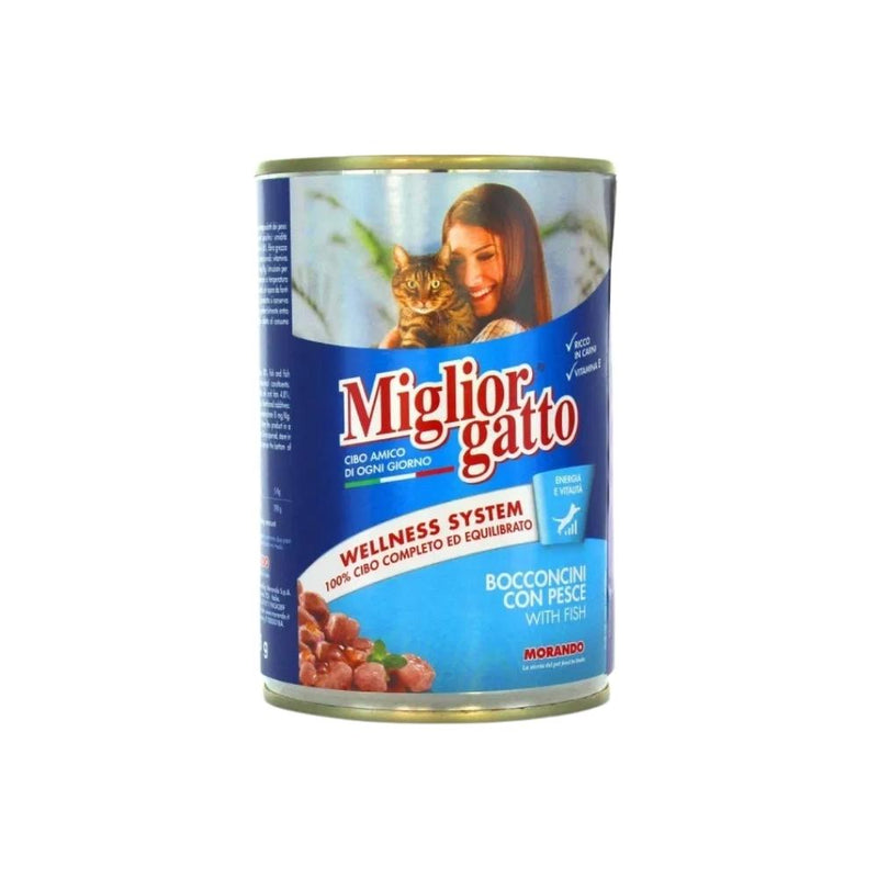 ميجليور جاتو طعام قطط بالسمك Miglior Gatto Cat Food With Fish