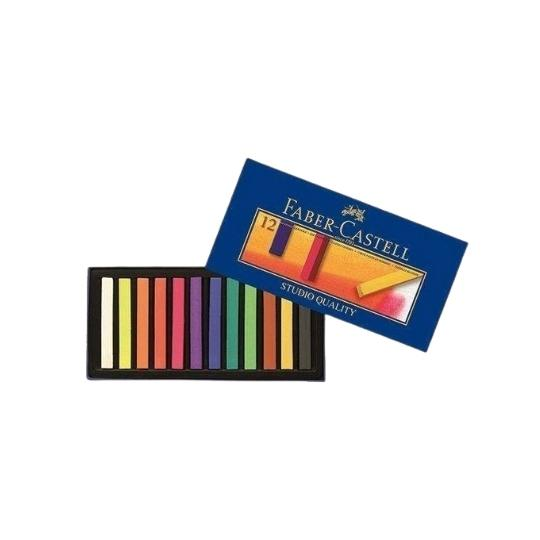 مسحوق ألوان باستيل من فابر كاستل FABER CASTELL Creative Studio Powder Pastel Paint 12 Colors Full Size
