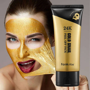 قناع الذهب فارم ستاي Farm Stay Mask Bar 24K Gold Snail Peel Off Pack‏