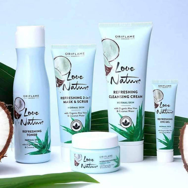 سيت العناية بالبشرة أوريفليم Aloe Vera & Coconut Water For Your Normal Skin Oriflame