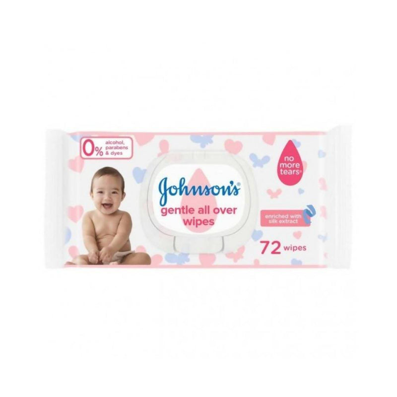 مناديل رطبة جونسون 72 منديل Johnson's Wet Wipes 72 Wipes