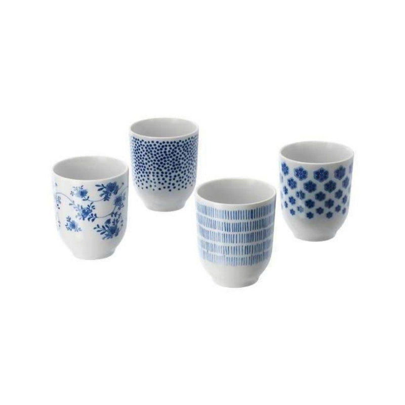 سيت كؤوس ايكيا IKEA Cups Sets White and Blue - Orisdi
