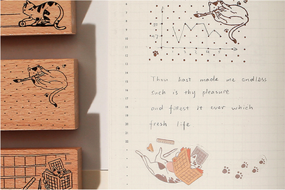 Journaling Cat Stamps