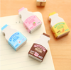 Mini Milk Box Eraser 2-Pack