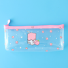 Transparent Peach Milk Pencil Case